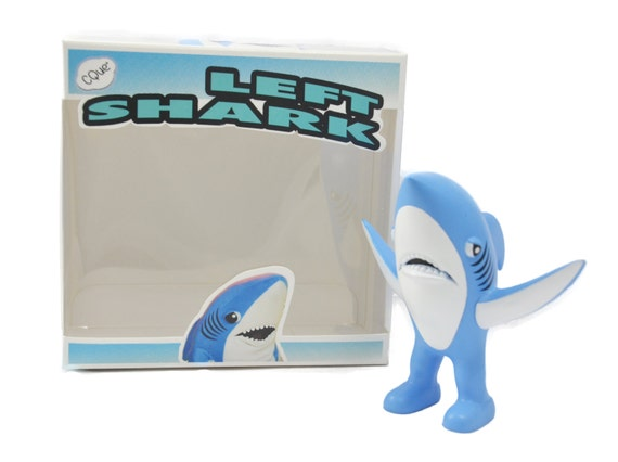 Shark Toy Box : Left shark toy figure box fantasy football by