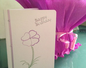Hand Crafted Ladies Birthday Card