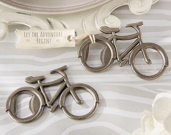 Set of 6 Personalized Wedding Bottle Opener - Bicycle Wedding Favors - Bridal Shower Favors - Bottle Opener Party Favors - Wedding Favours