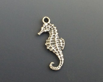 Sea Horse Charm, Sterling Silver