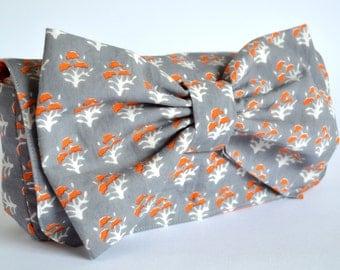 Clutch Bag, Grey Clutch bag, Orange and Grey Clutch, Clutch Purse, Clutch bags, Vintage Bag, Clutch Handbag