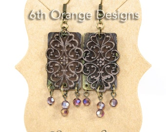 Handmade Vintage Filigree Drop Earrings