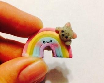 Kitty on a rainbow charm
