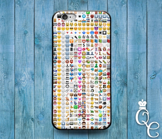 iPhone 4 4s 5 5s 5c SE 6 6s 7 plus + iPod Touch 4th 5th 6th Gen Custom Emoji Collage Case Cute Funny Character Cover White Grid Weird Fun
