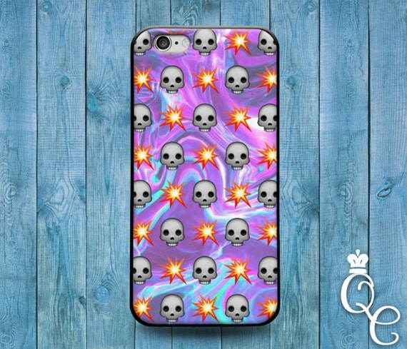 iPhone 4 4s 5 5s 5c SE 6 6s 7 plus iPod Touch 4th 5th 6th Gen Purple Galaxy Fire Skull Emoji Cool Cover Cute Funny Custom Fun Phone Case