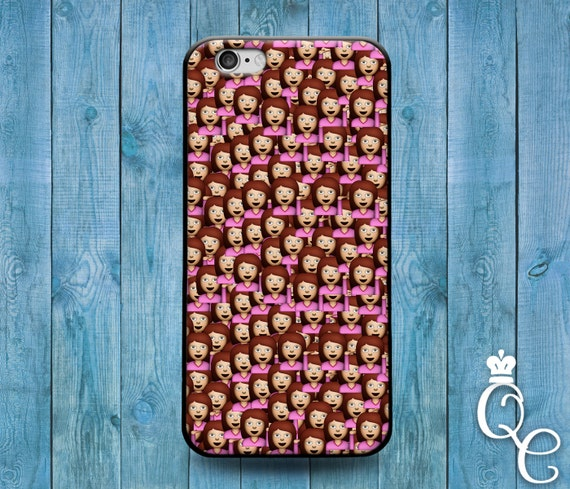 iPhone 4 4s 5 5s 5c SE 6 6s 7 plus iPod Touch 4th 5th 6th Generation Cute Drama Girl Woman Emoji Custom Funny Collage Cover Cute Phone Case