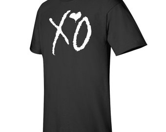 XO The Weeknd  t-shirt white logo lil wayne
