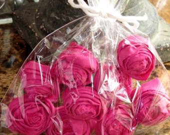 Handmade Hot Pink Fabric Flowers
