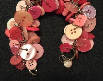 Pink Button Bracelet