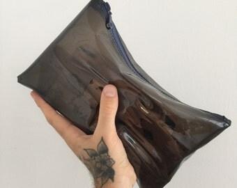 Tinted Vinyl Makeup Bag