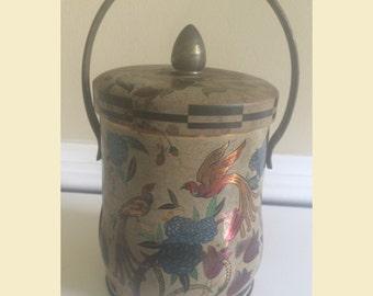 Gold Murray Allen Tin, Regal Crown Tin, Boho Art and Decor, Candy Tin