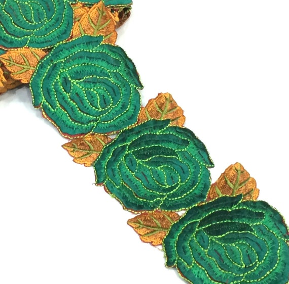 Cutwork embroidery trim in 9 yards of 3 5 inches width for Glass cut work designs