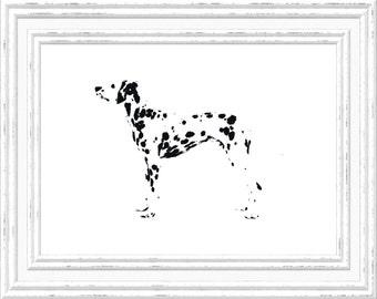 Dalmatian Print, Dalmatian Wall Art, Dalmatian Printable, Digital Dalmatian Printable, Printable Dalmatian Art, Digital Download Print, Dog