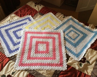 SALE Crochet baby blanket