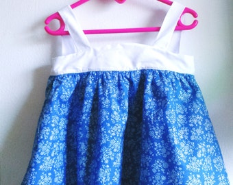 Girl dress knotted bow in back