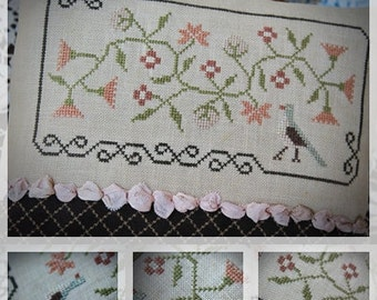 Bird and Flowers / Cross stitch pattern