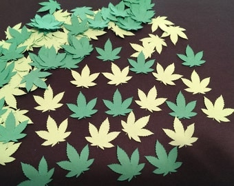 Pot leaf Confetti- 420 Confetti-Table scatter- Cannabis- Weed- Blaze- Stoner party