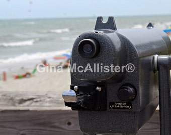 Binoculars at the Beach.