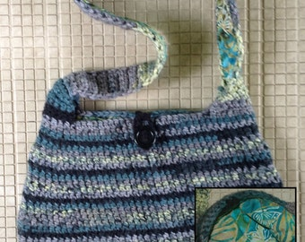 Fun crochet shoulder tote