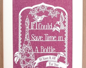 Time In A Bottle Papercut