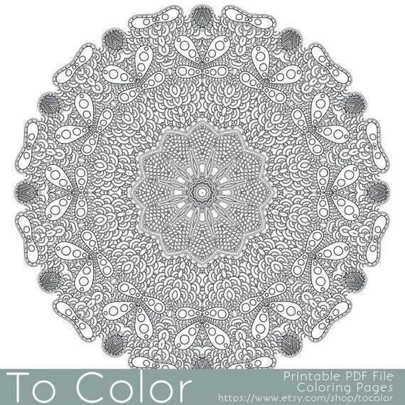 intricate mandala coloring pages free - photo#26