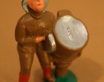 Eccles Bros. Cast Metal Toy Soldier with Search Light