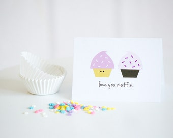 Love You Muffin | Funny Love Card