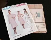 Vintage Vogue Paris Original Pattern - Molyneux - 1858 - 1970s Dress and Jacket
