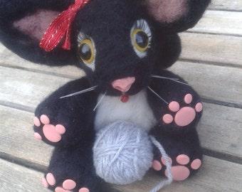 7.Custom Cat Needle felt/ sculpt/ keepsake