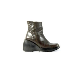 Platform Ankle Boot 7 CLUB KlD 90s Cyber Punk Chunky Free Shipping to USA