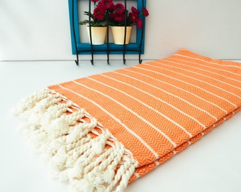 Orange Bamboo Towel,Orange Turkish Towel,Bamboo Turkish Towel,Gorgeus Orange Turkish Towel,Bamboo Towel,Best Quality Towel,HQ Turkish Towel