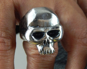 KEITH RICHARDS Inspired Silver Skull Ring, 63 Grams! .925 Sterling Silver Custom HEAVY Rocker! A Classic Rolling Stones Icon, Made in U.S.A.