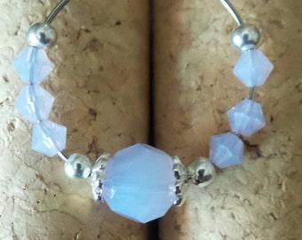 Swarovski Crystal Wine Charm in Violet Opal