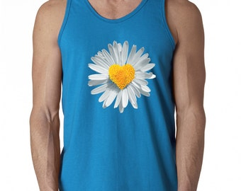 Daisy Flower Heart Shape Tank Cute Flower Tank Men Tank Top