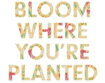 Bloom Where You're Planted 8 x 10 Print