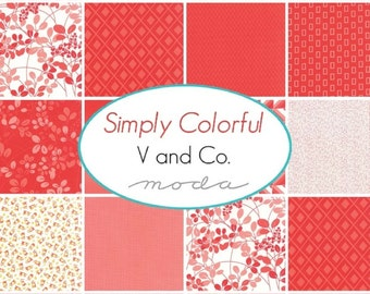 MODA ~ JR Jelly Roll Simply Colorful by: V and Co from Moda Fabric