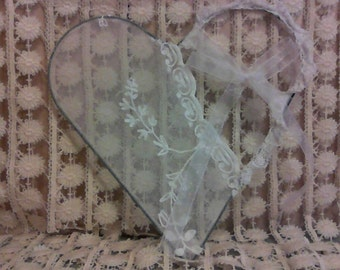 Shabby Chic Lacey Heart with Vintage Lace