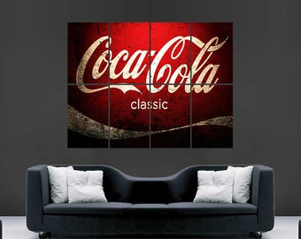 Coca Cola Vintage Poster Print Image Classic Giant large