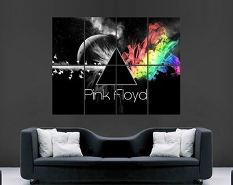 Pink floyd poster english rock band classic image print giant