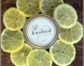 LemonDrop travel tin - Lemon, basil and cannabis. Subtly infused with notes of lime, sage and soft woodsy cedarwood.