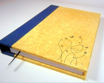 Yellow recycled paper notebook full of life with their colors and finishes in his role as never before seen and felt its soft finish