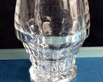 19th C Victorian Jacobean Heavy Pressed Rummer Glass