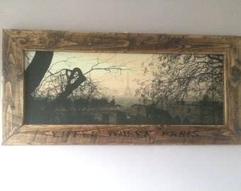 Handmade frame and canvas
