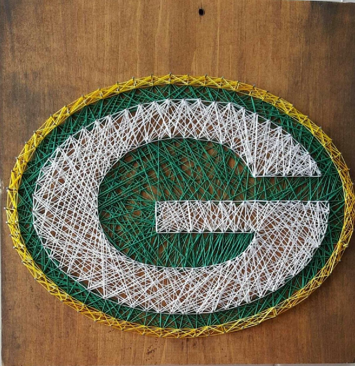 Green Bay Packer String Art