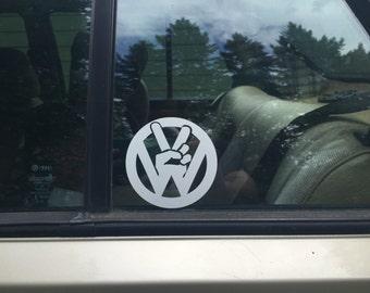 VW Peace Sign Sticker