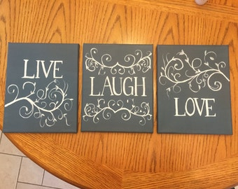 Live Laugh Love Canvases