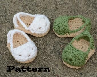 PDF Pattern - Doll Shoe Pattern, Crochet Espadrilles for 18 Inch Dolls, Doll Shoe Pattern, Doll Sandal Pattern, American Girl
