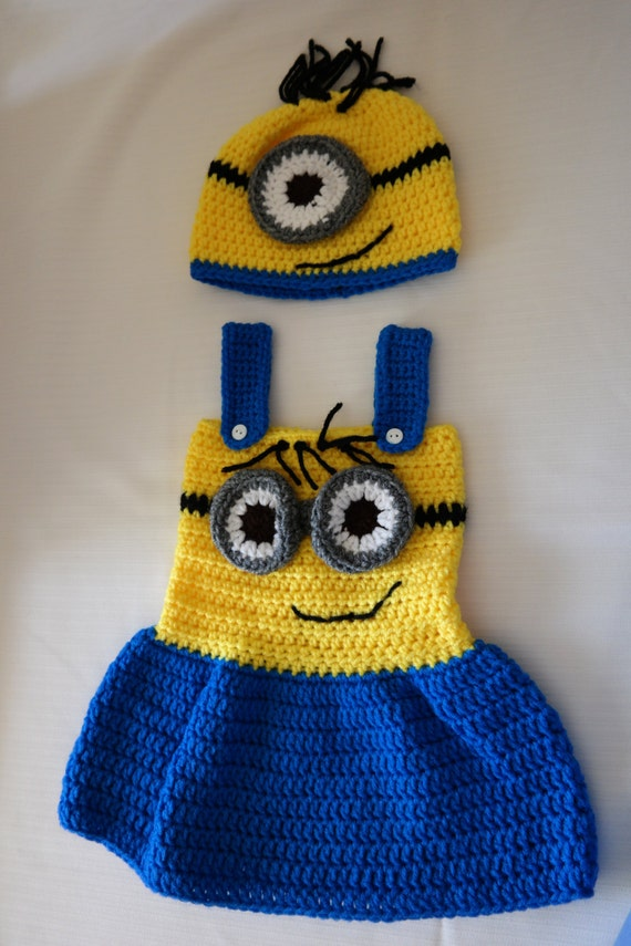 Crochet Patterns For Baby Overalls : Items similar to crochet minion outfit on Etsy