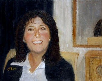 Custom Portrait Oil Painting Hand Painted