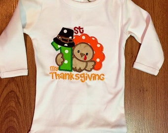 My1st Thanksgiving Onesie for Baby Boy or Baby Girl